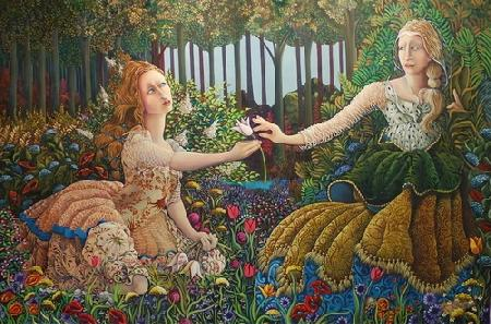 Nữ thần Déméter và con gái Perséphone