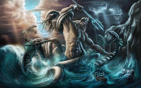 Poséidon và các thần biển