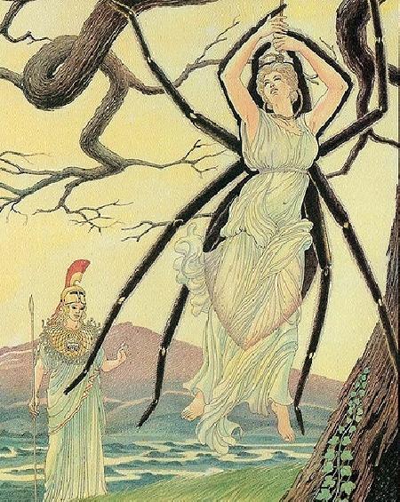 Athéna biến Arachné thành con nhện
