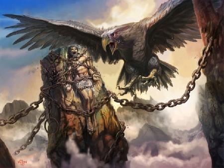 Thần Prométhée và loài người