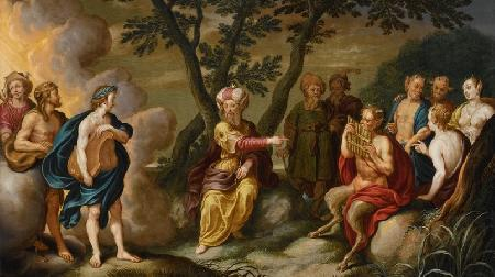 Pan thi tài với Apollon
