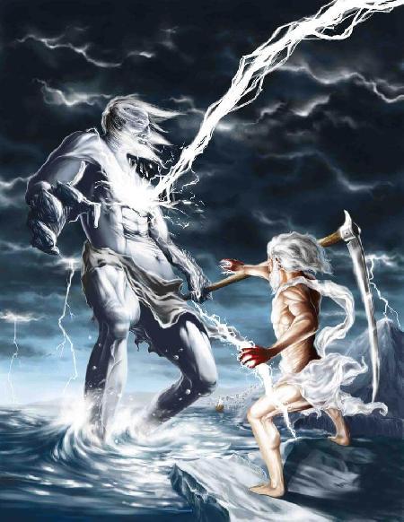 Zeus lật đổ Cronos. Cuộc giao tranh với các Titan (Titanomachie)