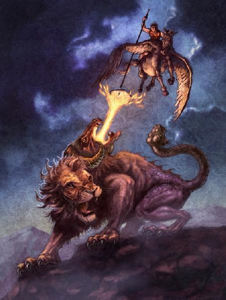 Chiến công và cái chết của dũng sĩ Bellérophon