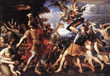 Trôi dạt vào đất Thrace, những người Argonautes cứu cụ già Phinée thoát khỏi tai họa của lũ Harpies