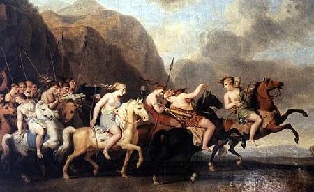 Thésée chống lại cuộc tiến công của những nữ chiến sĩ Amazones