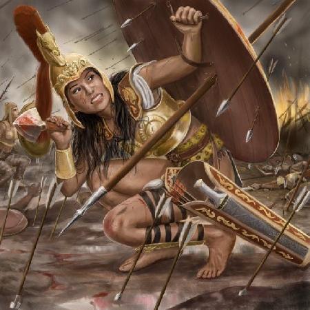 Achille giết chết nữ hoàng Panthésilée
