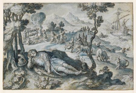 Ăn thịt bò của thần Hélios, chỉ riêng mình Ulysse sống sót