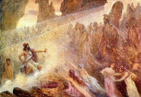 Cuộc hành trình xuống thế giới âm phủ của thần Hadès