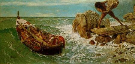 Đoàn thuyền mười hai chiếc chỉ còn thuyền của Ulysse