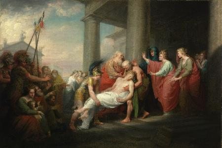 Lão vương Priam đi chuộc xác con