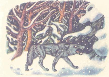 Chó sói và bà cụ già