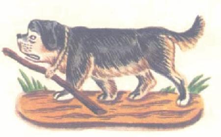 Con chó đeo khúc gậy