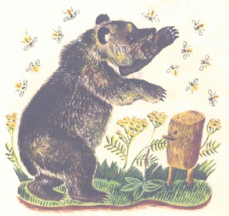 Gấu và ong