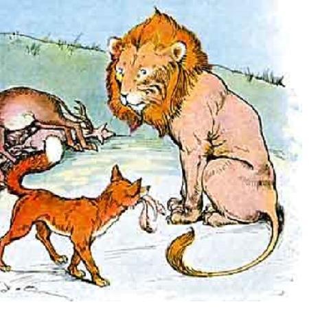 Sư tử, lừa và cáo