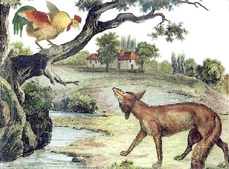 Chó, gà trống và cáo