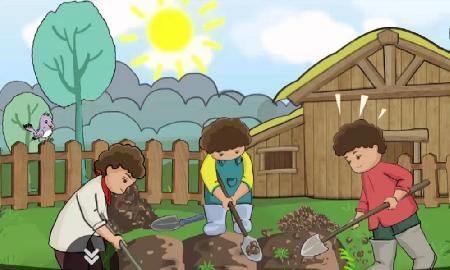 Người làm vườn và các con trai