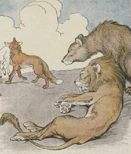 Gấu, Sư tử và Cáo