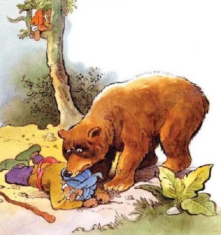 Hai người bạn và con gấu