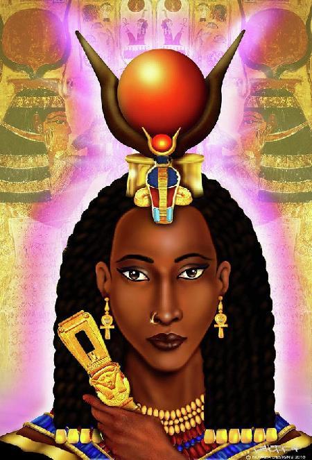 Nữ thần của tình yêu và sắc đẹp Hathor