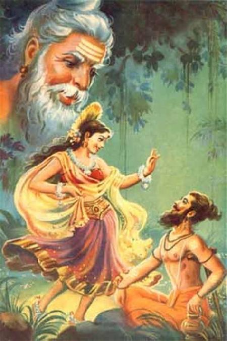 Hiền triết Vishvamitra và nàng Menaka