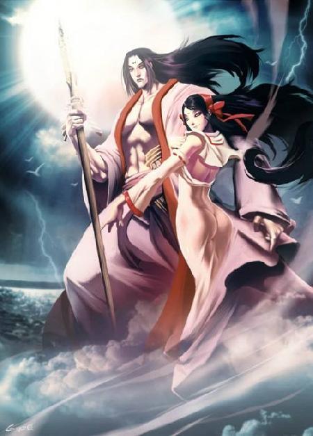 Izanagi và Izanami kiến tạo trời đất và các vị thần