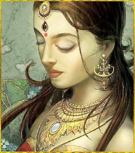 Nữ thần Parvati thích làm đẹp