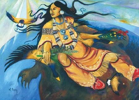 Hawenneyu, Iagentci  và sự hình thành thế giới trong thần thoại Iroquois