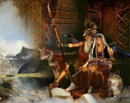 Hlidskalf chiếc ngai thần dát bạc của Odin