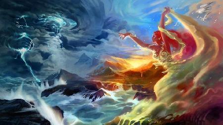 Rangi và Papa - thần Bầu trời và Mặt đất