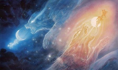 Sol và Mani - thần Mặt trời và thần Mặt trăng