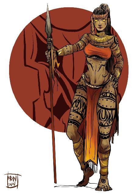 Nữ thần bảo hộ của chiến binh và độc dược Ynaguinid