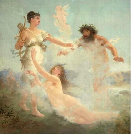 Chuyện thần sông Alpheus theo đuổi nữ thần Artemis