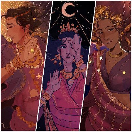 Ba người con của Bathala: Mayari, Tala và Hanan