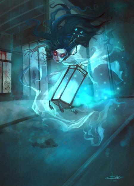 Lồng đèn xanh hay thanh hành đăng Ao Andon