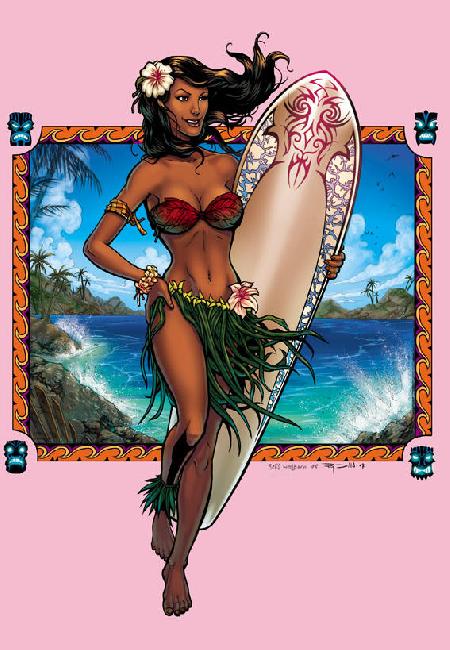 Mỹ nhân lướt sóng Mamala The Surf Rider