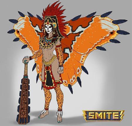 Nữ thần chiến tranhItzpapalotl của Aztec