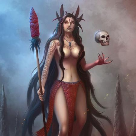 Nữ thần cõi âm Hine-nui-te-po
