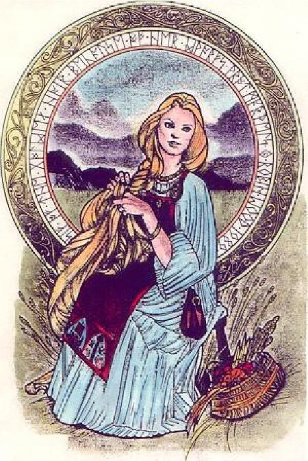 Nữ thần Sif với mái tóc vàng óng ả