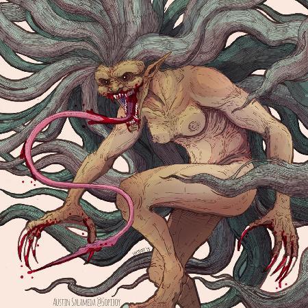 Loài quỷ dữ Gabunan đáng sợ