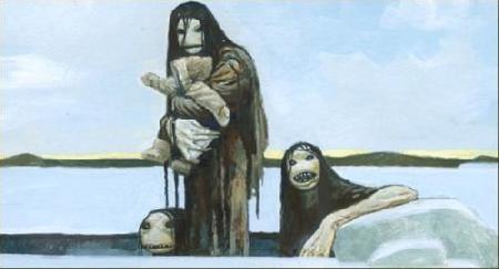 Loài quỷ biển Qalupanik trong thần thoại Eskimo