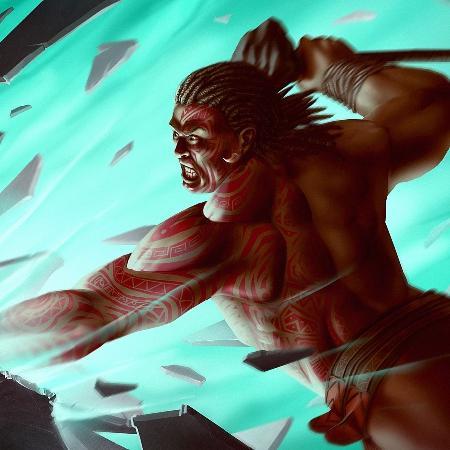 Thần chiến tranh Tumatauenga của Maori
