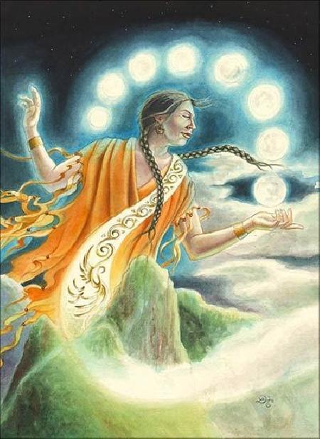 Nữ thần mặt trăng Mama Quilla của người Inca