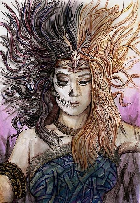 Thần chết Hel - người cai quản địa ngục Niflheim