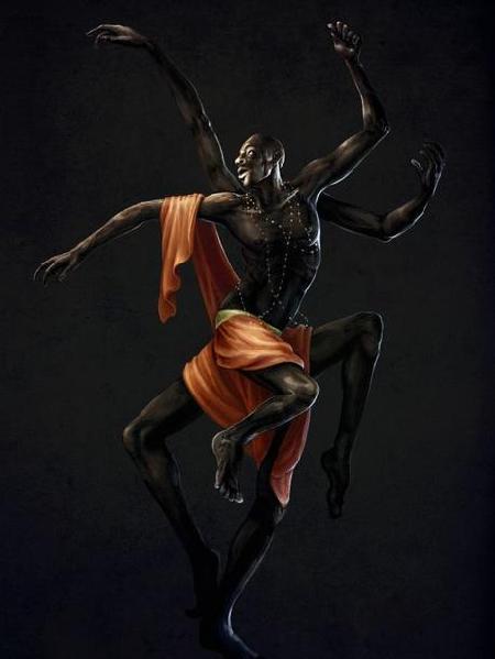 Anansi vị thần lừa gạt từ dân tộc Ashanti vùng Tây Phi