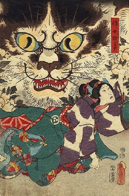 Ma mèo báo thù Bakeneko trong thần thoại Nhật Bản