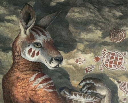 Sự tích con kangaroo và con gấu túi wombat