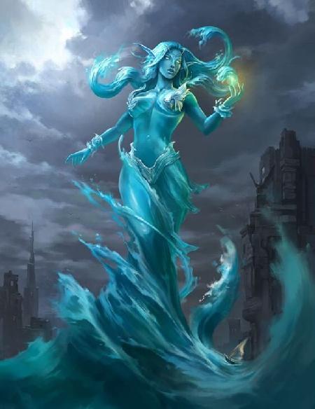 Titan Krios (Crius) và nàng Eurybia cai quản năm, các tinh tú và sức mạnh biển cả
