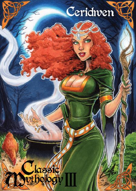 Nữ thần trí tuệ và phép thuật Cerridwen