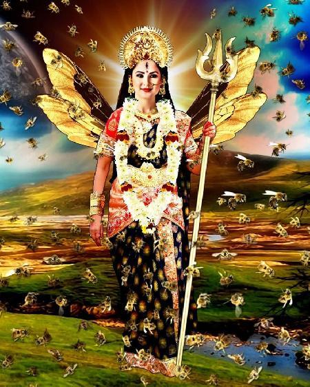 Hóa thân nữ thần ong Bhramari của nữ thần Parvati