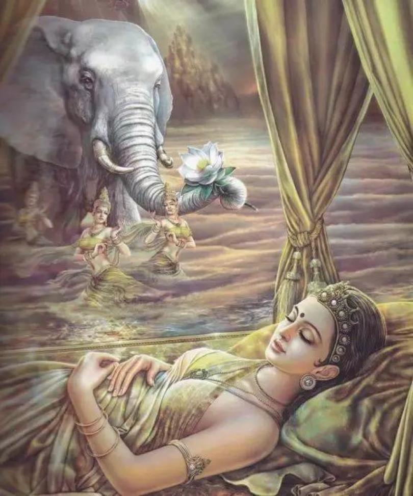 Hoàng Hậu MaDa mộng gặp voi trắng